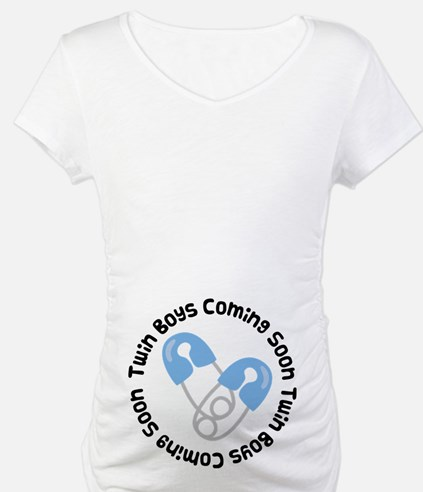 Twin Boys Pregnancy Shirt