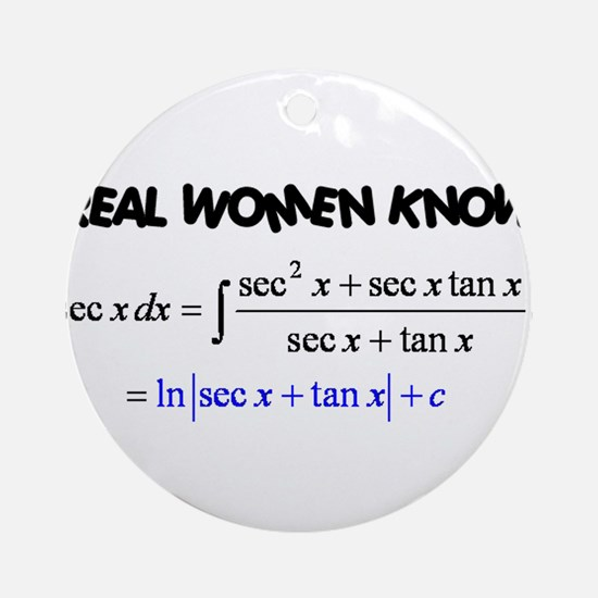 Real Women-2 Ornament (Round)
