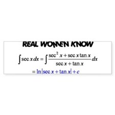 Real Women-2 Bumper Bumper Sticker