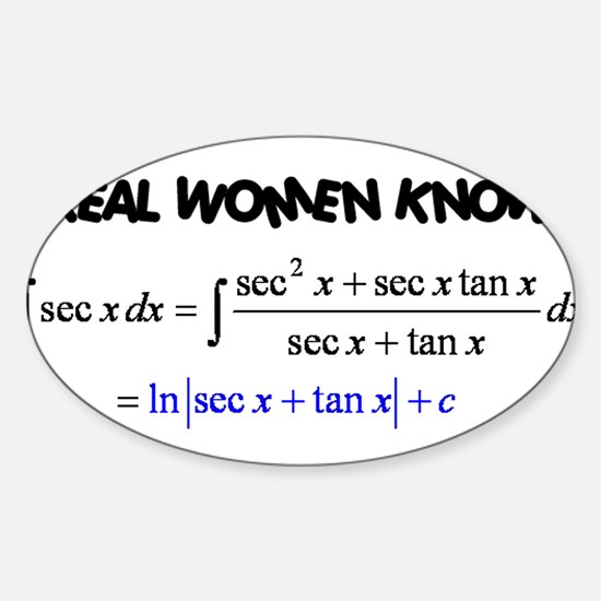 Real Women-2 Sticker (Oval)