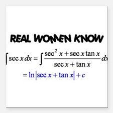 "Real Women-2 Square Car Magnet 3"" x 3"""