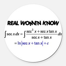 Real Women-2 Round Car Magnet