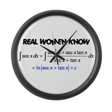 Real Women-2 Large Wall Clock