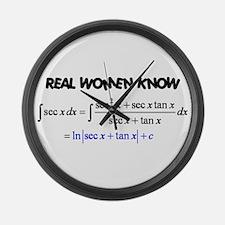 Real Women-2 Large Wall Clock