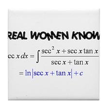 Real Women-2 Tile Coaster