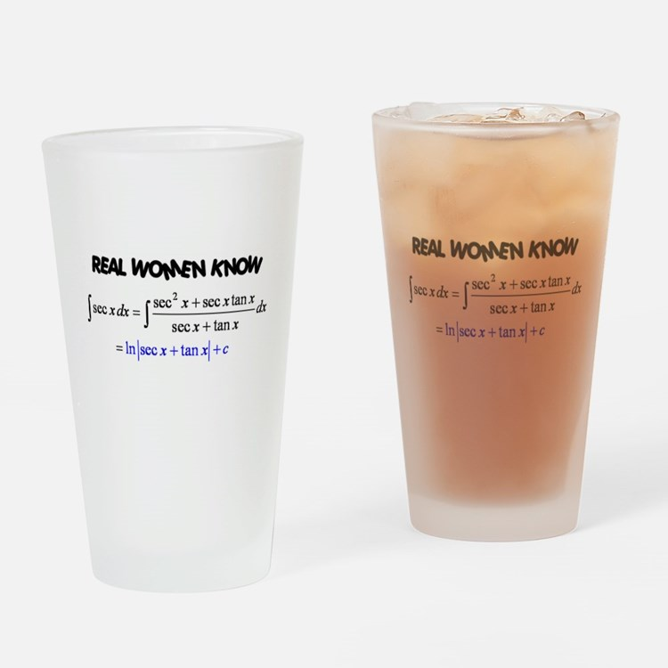 Real Women-2 Drinking Glass