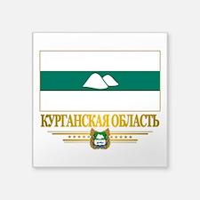 "Kurgan Oblast Flag Square Sticker 3"" x 3"""