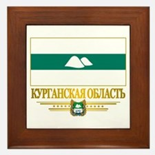 Kurgan Oblast Flag Framed Tile