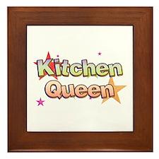 Kitchen Queen Framed Tile