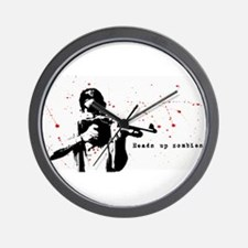 Heads up zombies Wall Clock