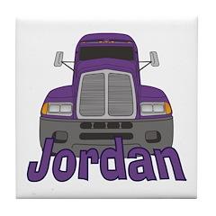 Trucker Jordan Tile Coaster
