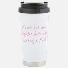 Never Let Your Daughter Stainless Steel Travel Mug
