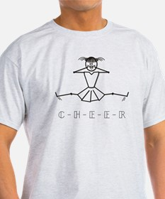 Color Me Cheerleader Stick Figure T-Shirt