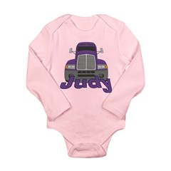 Trucker Judy Long Sleeve Infant Bodysuit