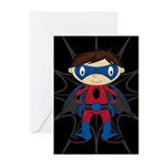 Masked Superhero Boy Greeting Cards (Pk of 20)