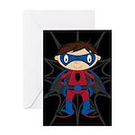 Masked Superhero Boy Greeting Card