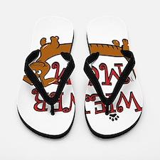 Wiener Mom/Oktoberfest Flip Flops