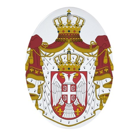 Serbia Coat Of Arms Ornament (Oval)