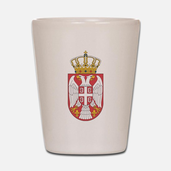 Serbia Lesser Coat Of Arms Shot Glass