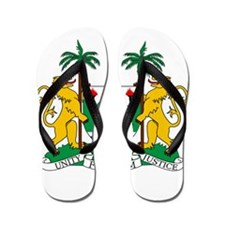 Sierra Leone Coat Of Arms Flip Flops