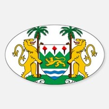 Sierra Leone Coat Of Arms Sticker (Oval)