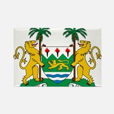 Sierra Leone Coat Of Arms Rectangle Magnet (10 pac