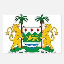 Sierra Leone Coat Of Arms Postcards (Package of 8)
