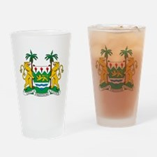 Sierra Leone Coat Of Arms Drinking Glass