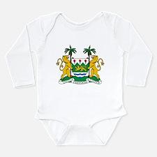 Sierra Leone Coat Of Arms Long Sleeve Infant Bodys