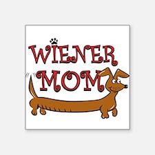 """Wiener Mom/Oktoberfest Square Sticker 3"""" x 3"""""""