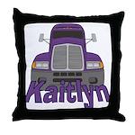 Trucker Kaitlyn Throw Pillow