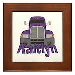 Trucker Kaitlyn Framed Tile