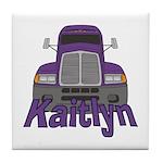 Trucker Kaitlyn Tile Coaster