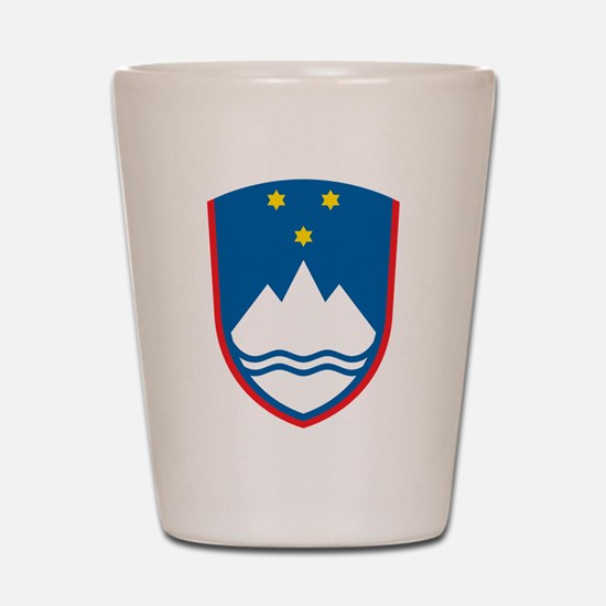 Slovenia Coat Of Arms Shot Glass
