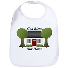 God Bless Our Home Bib