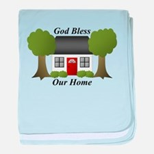God Bless Our Home baby blanket