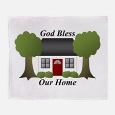 God Bless Our Home Throw Blanket