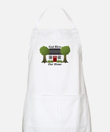 God Bless Our Home Apron