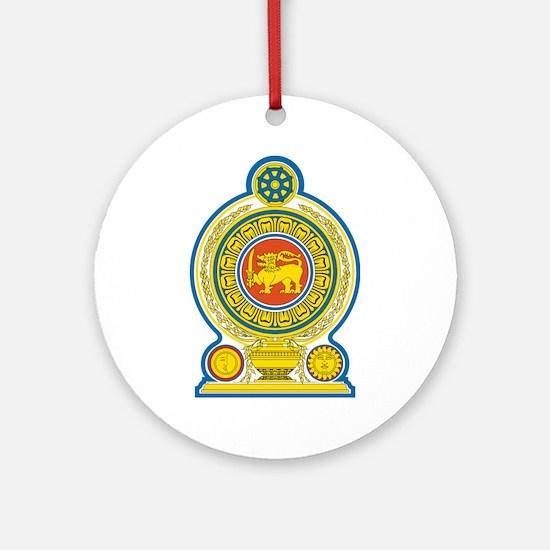 Sri Lanka Coat Of Arms Ornament (Round)
