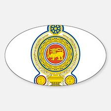 Sri Lanka Coat Of Arms Sticker (Oval)