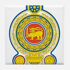 Sri Lanka Coat Of Arms Tile Coaster