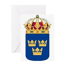 Sweden Lesser Coat Of Arms Greeting Card