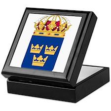 Sweden Lesser Coat Of Arms Keepsake Box