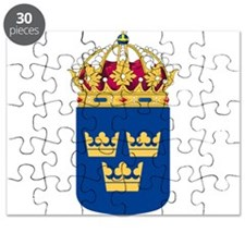 Sweden Lesser Coat Of Arms Puzzle