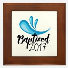 Baptized 2017 Framed Tile