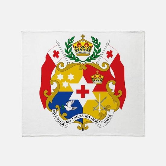 Tonga Coat Of Arms Throw Blanket