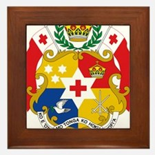 Tonga Coat Of Arms Framed Tile