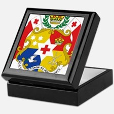 Tonga Coat Of Arms Keepsake Box