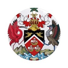 Trinidad and Tobago Coat Of Arms Ornament (Round)