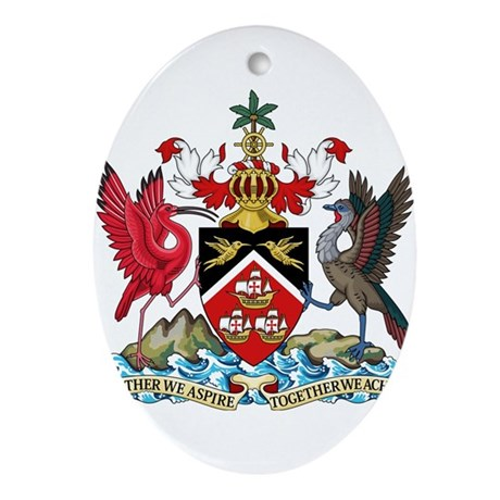 Trinidad and Tobago Coat Of Arms Ornament (Oval)